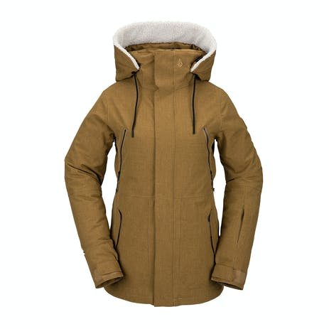 Volcom Shrine Insulated Women's Snowboard Jacket 2021 - Burnt Khaki