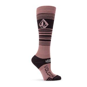 Volcom Tundra Tech Women's Snowboard Sock - Rosewood