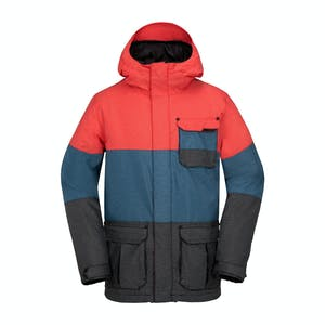 Volcom Captain Insulated Snowboard Jacket - Fire Red