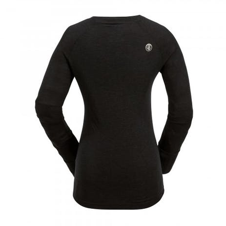 Volcom Stella Women's Base Layer Crew - Heather Black