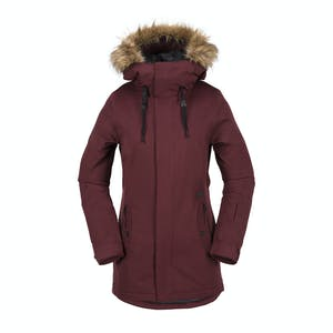 Volcom Women's Mission Insulated Jacket 2018 - Black/Red