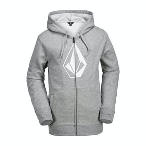 Volcom JLA Stone Zip Fleece Hoodie 2018 - Heather Grey