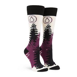 Volcom Women's Tundra Tech Snowboard Sock - Black