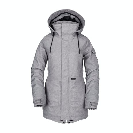 Volcom Shrine Insulated Women's Snowboard Jacket 2019 - Heather Grey