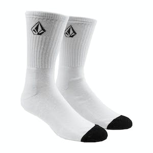 Volcom Full Stone Socks - White - 3 Pairs