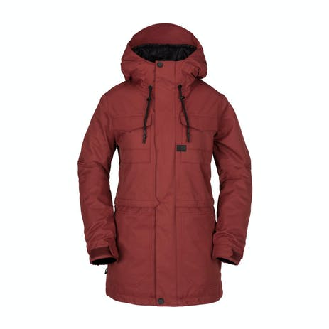Volcom Leeland Women's Snowboard Jacket 2019 - Burnt Red