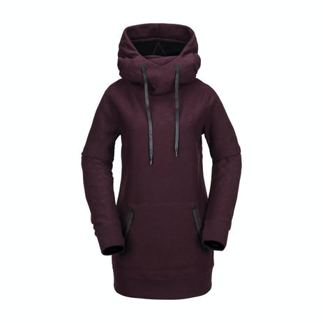 Volcom Fleece Women's Riding Hoodie 2019 - Merlot