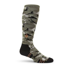 Volcom Lodge Snowboard Sock - Camo Green