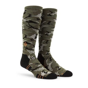 Volcom Lodge Snowboard Sock - Camo Green