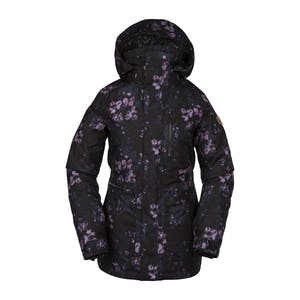 Volcom Shelter 3D Stretch Women's Snowboard Jacket 2020 - Black Floral Print