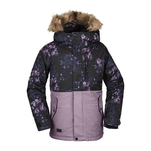 Volcom So Minty Insulated Youth Snowboard Jacket 2020 - Black Floral Print