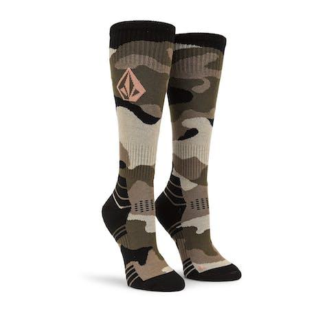 Volcom TTT Women's Snowboard Sock - Faded Army