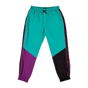 Welcome Athlete Nylon Wind Pant - Teal/Black/Purple