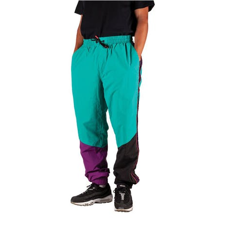 Welcome Athlete Nylon Wind Pant - Teal/Black/Purple
