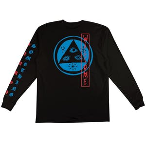 Welcome Beckon Long Sleeve T-Shirt - Black/Blue/Red