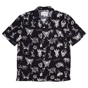 Welcome Ephemera Rayon Camp Shirt - Black