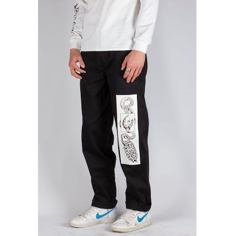 Welcome Glam Dragon Printed Elastic Pant - Black