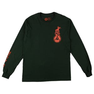 Welcome Goatman Long Sleeve T-Shirt - Forest Green