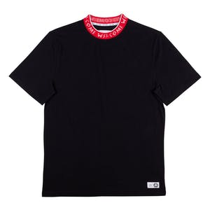 Welcome Nodus Jacquard Knit T-Shirt - Black