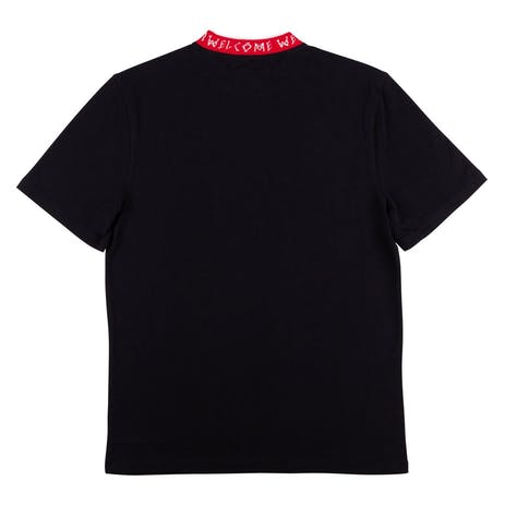 Welcome Nodus Jacquard Knit T-Shirt - Black