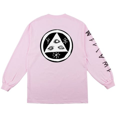 Welcome Tali-Scrawl Long Sleeve T-Shirt - Pink/Black/White