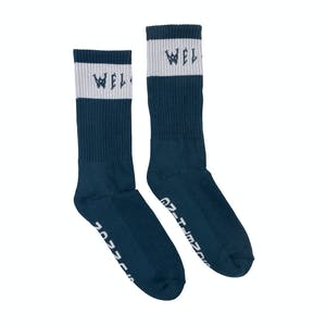 Welcome Summon Socks - Harbour/White