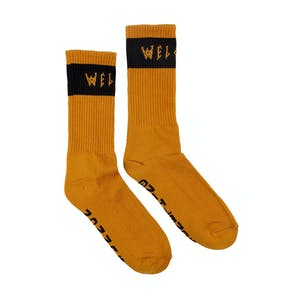 Welcome Summon Socks - Pumpkin/Black