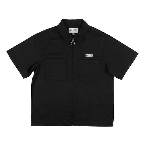 Welcome Bapholit Zip-Up Work Shirt - Black