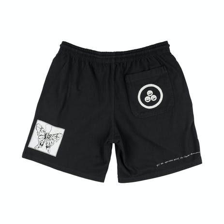 Welcome Excess Garment-Dyed Jersey Short - Black