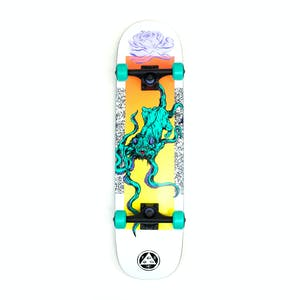 "Welcome Bactocat 8.0"" Complete Skateboard - White"