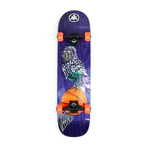 "Welcome Hooter Shooter 8.0"" Complete Skateboard - Purple"