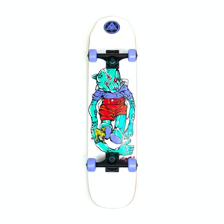 "Welcome Nora Teddy 7.75"" Complete Skateboard - White"