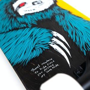 "Welcome Sloth 7.75"" Complete Skateboard - Gold/Black"