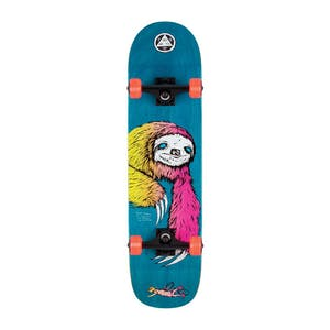 """Welcome Sloth 8.0"""" Complete Skateboard - Blue/Surf Fade"""