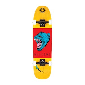 "Welcome Tasmanian Angel 8.25"" Complete Skateboard - Yellow/Red/Blue"