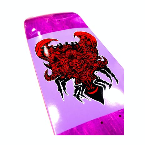 """Welcome Menagerie on Baculus II 9.0"""" Skateboard Deck - Purple Stain"""