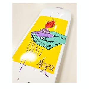 """Welcome Nora Soil on Wicked Princess 8.125"""" Skateboard Deck - White Dip"""