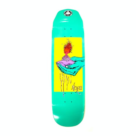 """Welcome Nora Soil on Wicked Queen 8.6"""" Skateboard Deck - Teal Dip"""