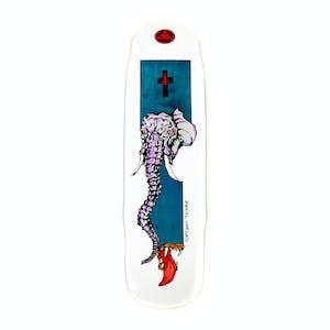 """Welcome Vargas Tusk on Effigy 8.8"""" Skateboard Deck - White"""