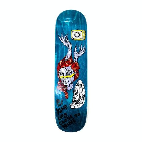 "Welcome Beldam on Bunyip Mid 8.25"" Skateboard Deck - Teal Stain"