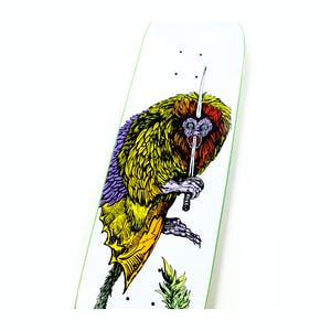 "Welcome Tamarin on Moontrimmer II 8.5"" Skateboard Deck - White"