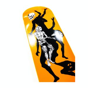 """Welcome The Magician on Son of Planchette 8.38"""" Skateboard Deck - Orange"""