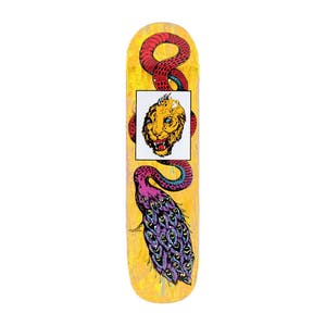 "Welcome Glam Dragon on Bunyip Mid 8.25"" Skateboard Deck - Yellow"