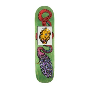 "Welcome Glam Dragon on Bunyip Mid 8.25"" Skateboard Deck - Green"