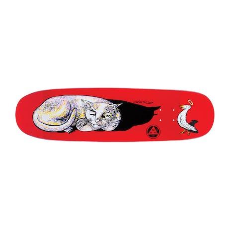 "Welcome Miller Sleeping Cat on Catblood 8.75"" Skateboard Deck - Red"