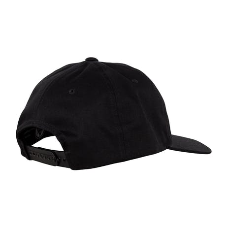 Welcome Smiley Unstructured Snapback - Black