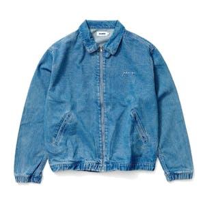 XLARGE Bull Denim Harrington Jacket - Mid Blue