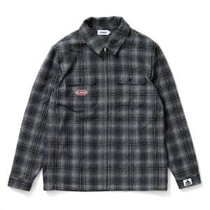 XLARGE Check Flannel Zip Shirt - Grey