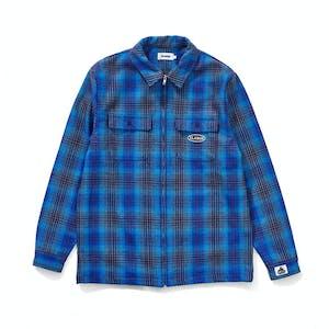 XLARGE Flannel Zip Shirt - Navy