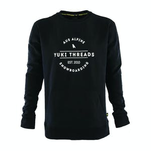 Yuki Threads Logo Crew - Black